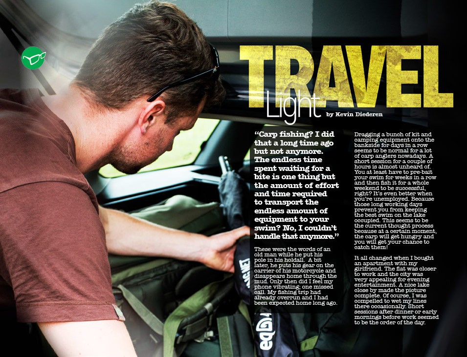 travel light - kevin diederen | articles | korda, Reel Combo