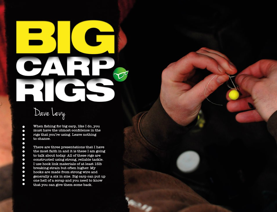 Dave Levy reveals his favourite big-carp rigs!