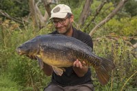 Simon Scott with a stunning old mirror