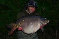 A 45lb 4oz mirror from Lee Bowyer's lake