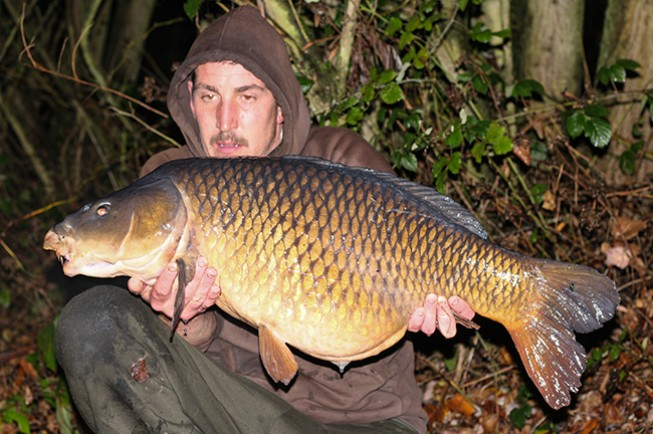 A cracking 31lb common for Gavin