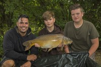 Jack with a fish caught during Carp Academy