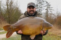 Part of a seven fish catch for Buzz at 43lb 8oz