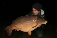 Big, bad , February Mirror carp.