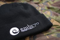 Thick, high-quality beanie embroidered with the Embryo logo