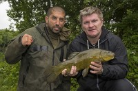 Ricky eventually mastered the tench fishing