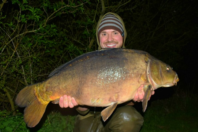 Lawrence was very happy with this 28lb mirror