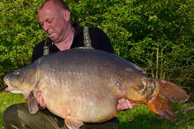 South Ings fishery manager Colin Jagger smashed his PB