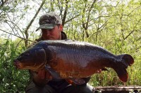 A cracking old, dark mirror of 32lb