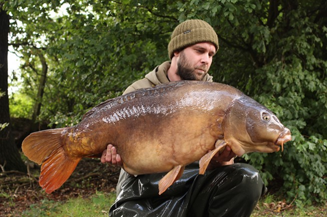 Simon Kenny with his target fish