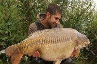 Ali displaying just one of many fine carp he has caught