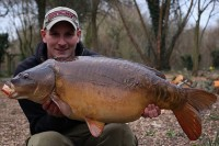 A magnificent old Farlows Lake m mirror of 35lb 6oz
