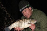A huge Thames chub caught on a hair-rigged pellet