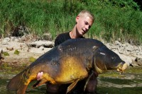 A bruiser of a carp hooked on a strong, Wide Gape X