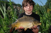 A youngster with a carp