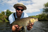 Dean bags barbel and chub from the river