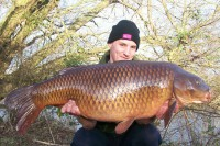 The big old common was a new PB for Kyle at 42lb 2oz