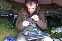Martin constructs a rig to trap a big common