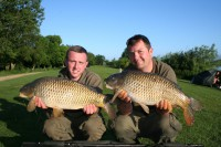 Like the others, Billy Flowers and Jamie Londers fished hard