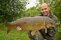This corking common was one of eight fish to fall to our man