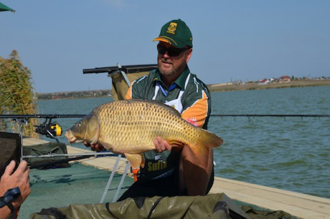 One of the bigger carp of the match