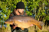 The cracking mirror tipped the scales to 43lb 4oz