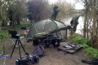 Carnage, caused by a film crew and a few carp!