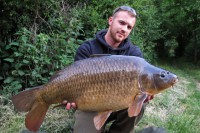 Jason's first Snake Pit carp quickly fell to his floater tactics