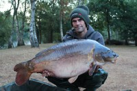 Martin's move paid off in the form of this 43lb 14oz mirror