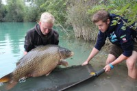 Gigantica bailiff Mike helps Jake into the water