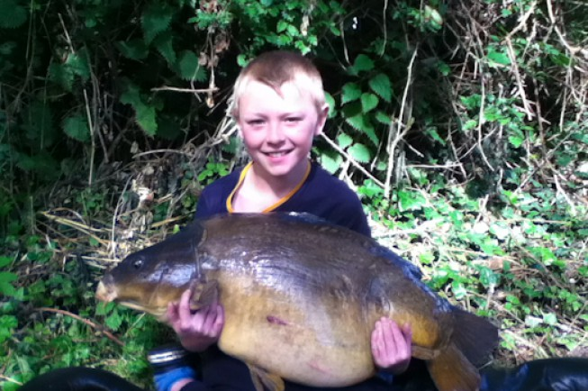 Taylor Ferris, aged nine, bagged this beast in the Lee Valley