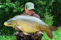 At just over 40lb, this nice mirror was reward for hard work