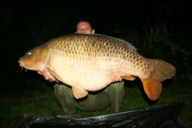 Merv Pennell's first fish of his recent French trip