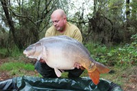 A big Rainbow mirror that succumbed before Dave's losing streak