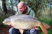 After banking his prehistoric sturgeon this carp was next