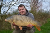He took this 12lb common before dark