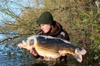 One more shot before Craig slips the unusual carp home