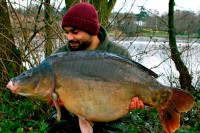 On the scales she went 43lb 8oz, which is a new PB for Warren