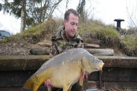 This stunning 31lb mirror came from Dean's margin spot