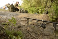 Whilst the carp safely rested in the retention sling