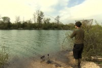 James Armstrong in action at Gigantica Road Lake