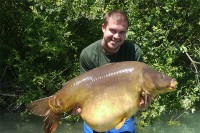 Michael with his new personal best mirror