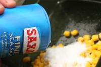 Stop the corn from melting your pva, by adding some salt