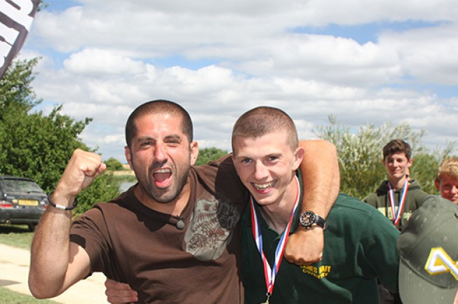 Last years champion celebrating with the one and only Ali Hamidi