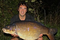 Justin caught this 37lb 2oz common from an over-looked corner