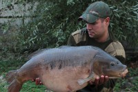 After a slow and dogged fight, Marc netted this amazing creature