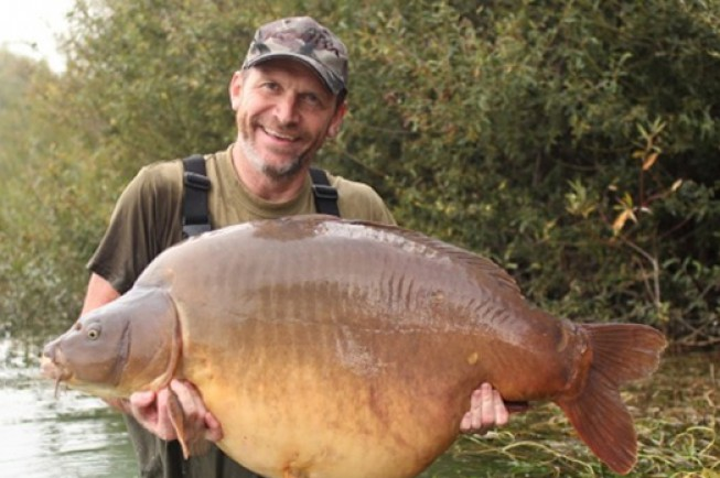 Andy with Chunky, which was on the missing list for two years