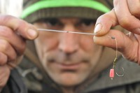 Martin favours a combi rig when fishing over maggots