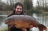 Justin Badman with his stunning 28lb mirror