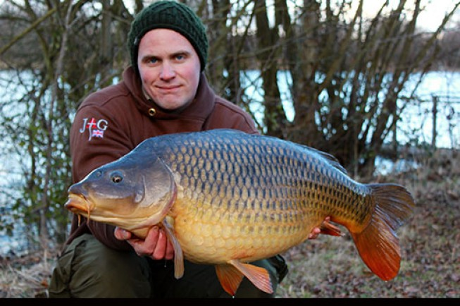 Craig has had a great winter with two big commons to his rods